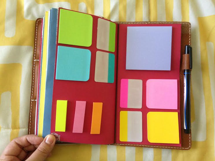 Post-Its for Midori notebook