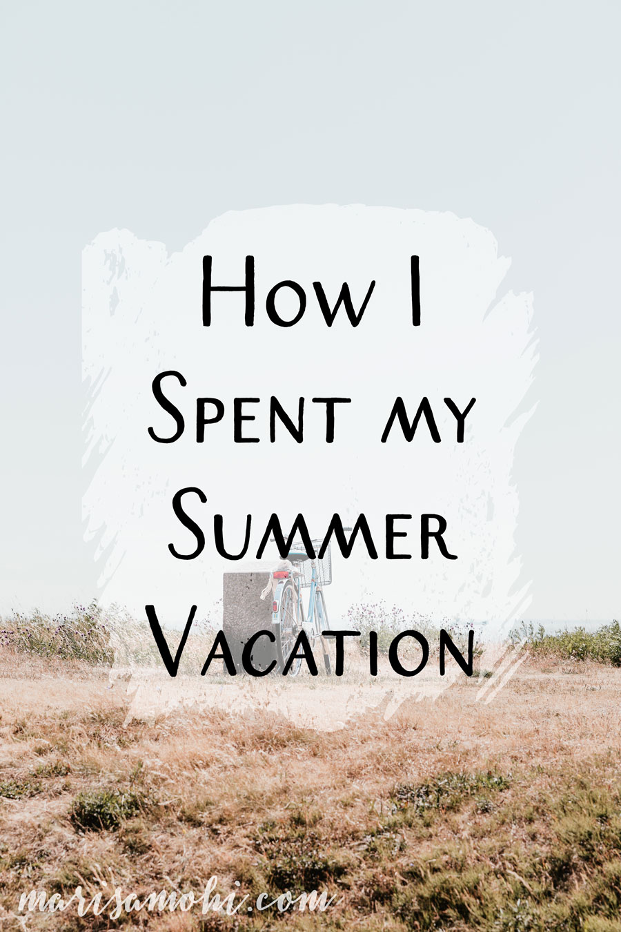 Essay on how i spent my summer vacation